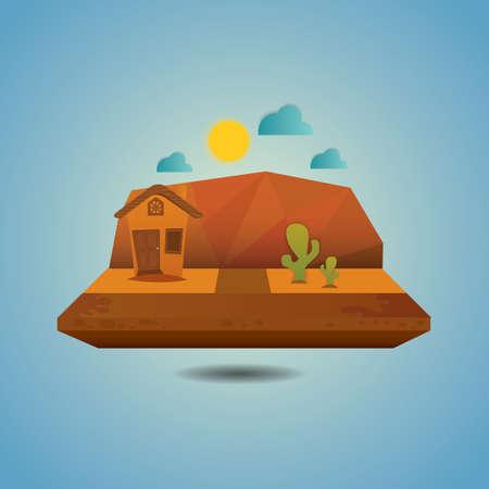 desert landscape Illusztráció