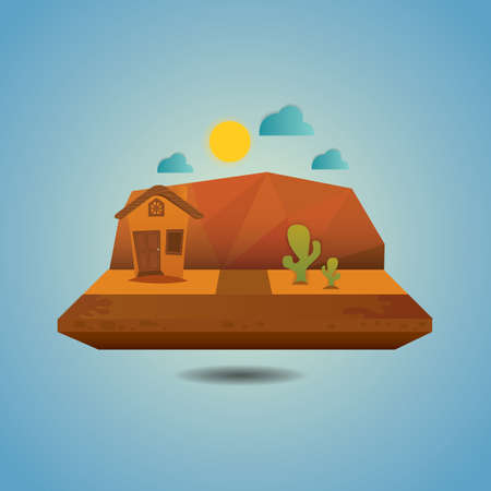 desert landscape Illustration