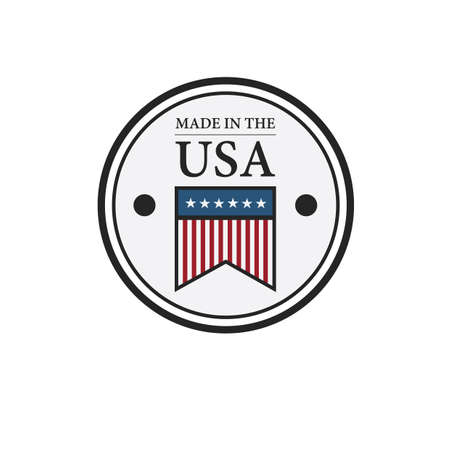 made in usa badge Banco de Imagens - 106674191