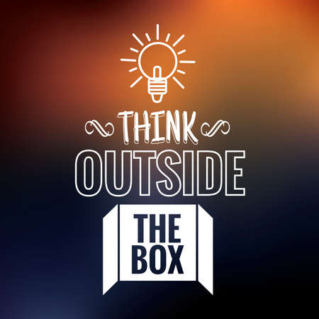 think outside the box quote Reklamní fotografie - 106674202