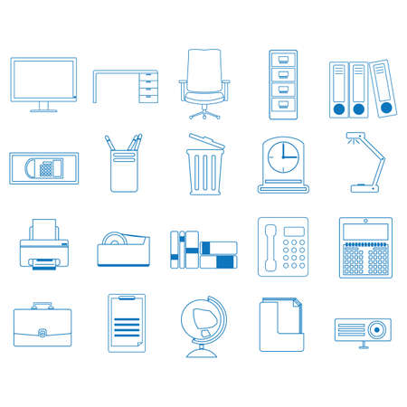 set of office icons Illustration