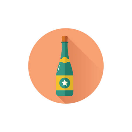 Champagne illustration. Çizim