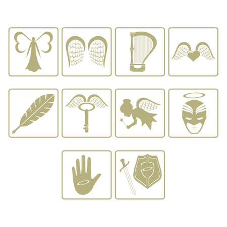 set of angel icons