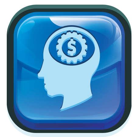 gear in head with dollar