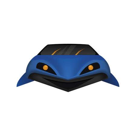 Shark shaped car