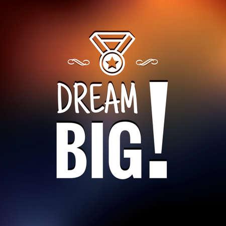 dream big  イラスト・ベクター素材