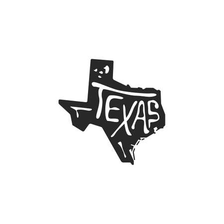 texas state map  イラスト・ベクター素材