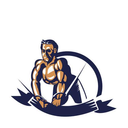bodybuilder trekkabel uitbreiding poster