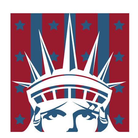 statue de la tête de la liberté