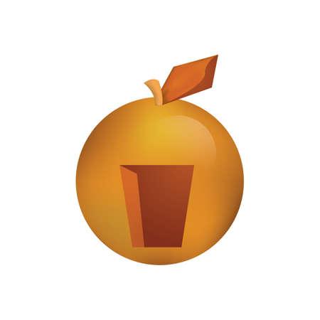 Oranje met een deuropening Stock Illustratie