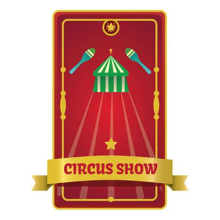 circus show poster  イラスト・ベクター素材