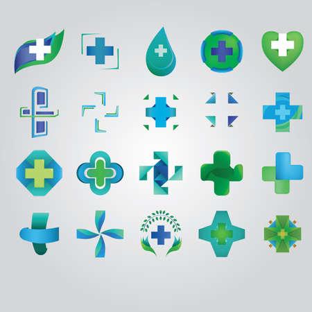 colección de iconos abstractos Ilustración de vector