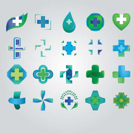 collection of abstract icons