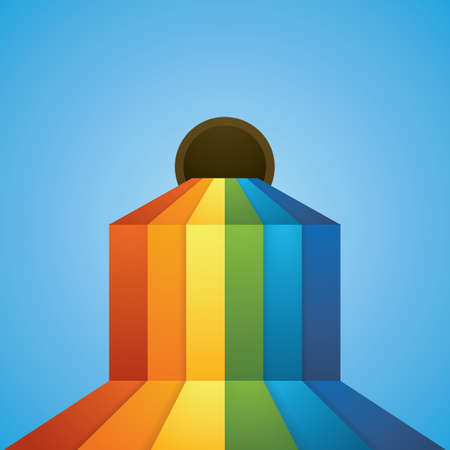 flowing rainbow