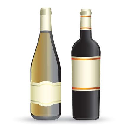 wine bottles Ilustração