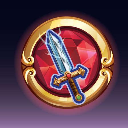 magic sword Ilustrace