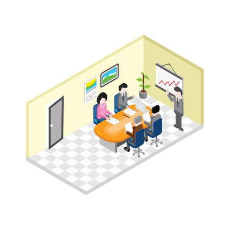 people having business meeting Ilustração