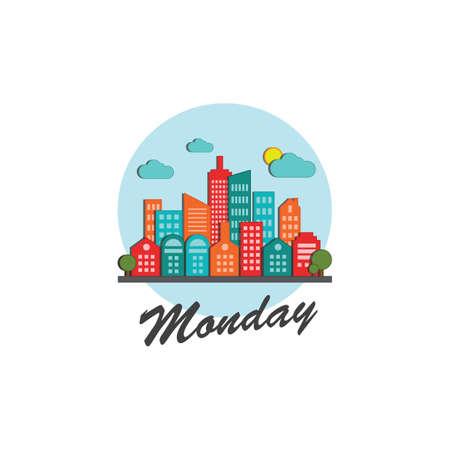 月曜日ラベル