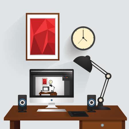 Computer op een bureau