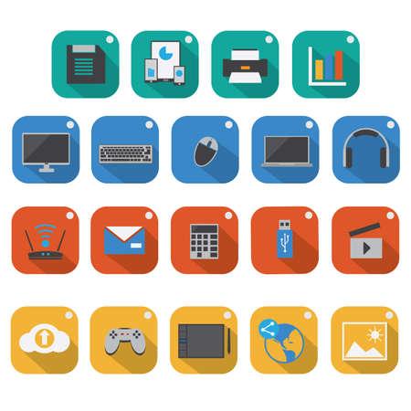 set of technology icons
