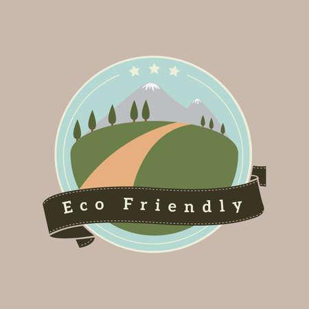 eco-friendly banner Illusztráció