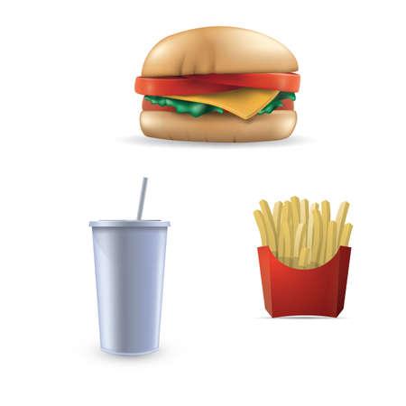set van fast-food pictogrammen