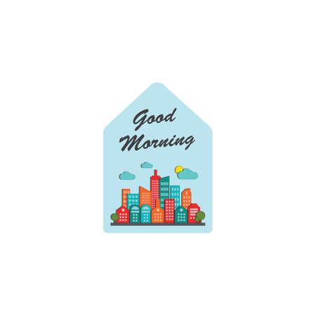 Good morning label Фото со стока - 81470732
