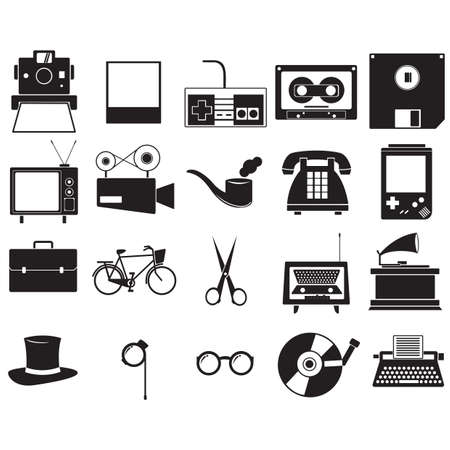A retro icons illustration.