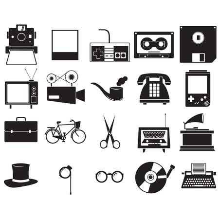 A retro icons illustration. Reklamní fotografie - 81536018