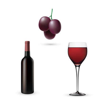 set of wine icons