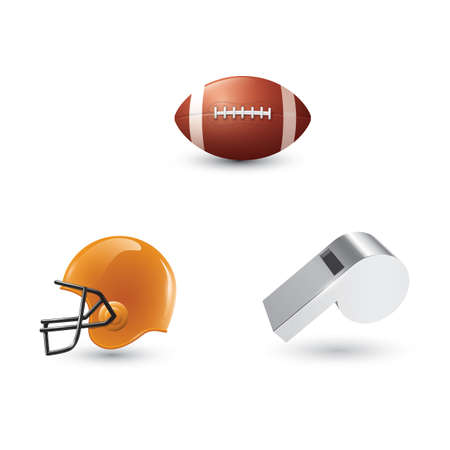 collection american football equipment