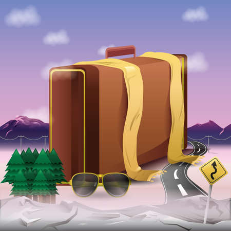 travel items Иллюстрация