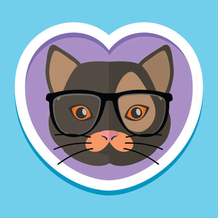 cat wearing spectacles