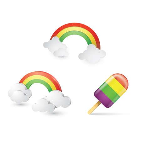 set of rainbow icons Illustration