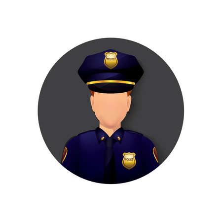 policía Ilustración de vector