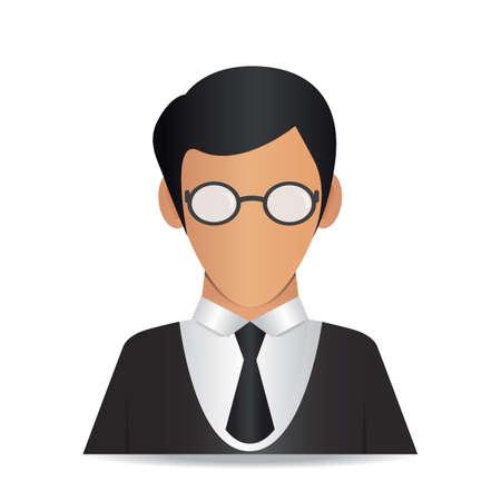 uomo con gli occhiali Vettoriali