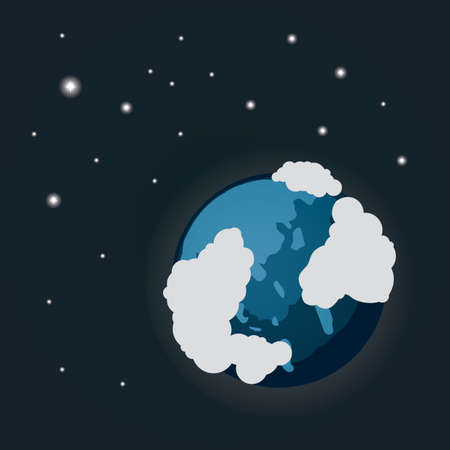 earth covered with snow Stock Illustratie