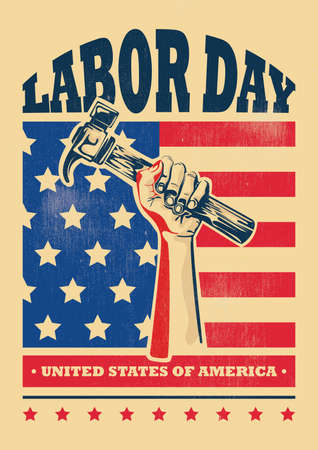 usa labor day poster Stock Illustratie