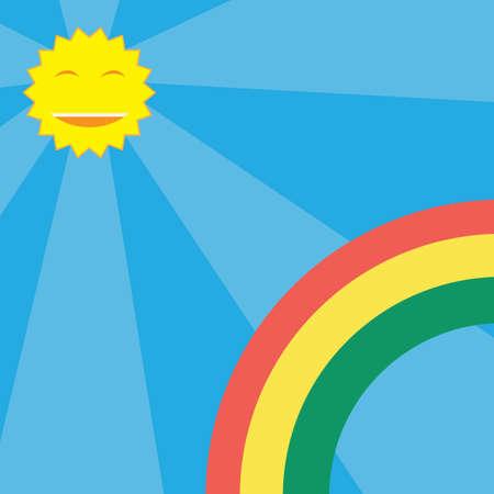 sun and rainbow wallpaper Illustration