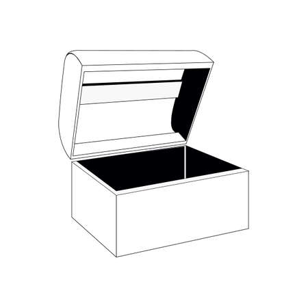 opened chest box