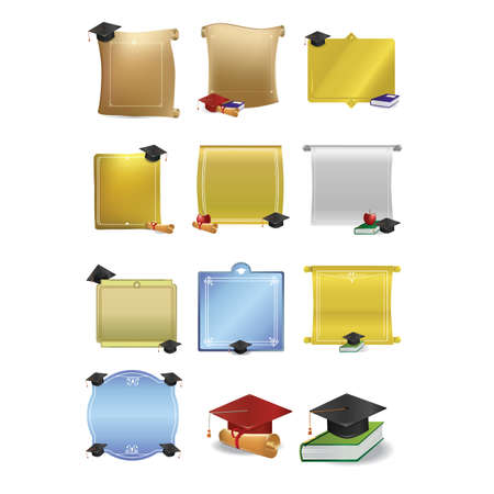 graduation scroll and frame set
