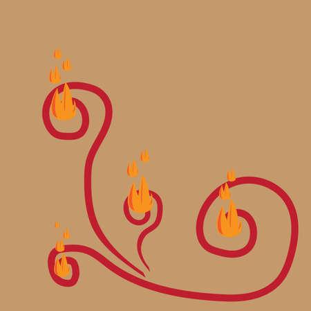 화재 무늬 벽지