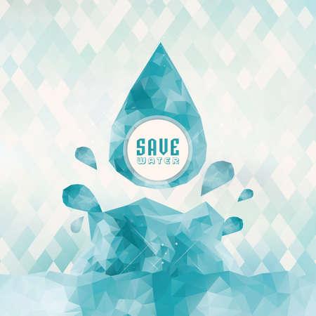concepto de ahorro de agua