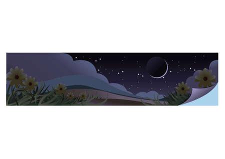 night view Ilustrace