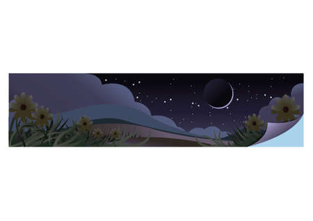 night view Illustration