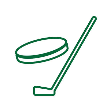puck: Ice hockey puck with stick illustration. Illustration
