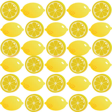 lemon and slices of lemon background