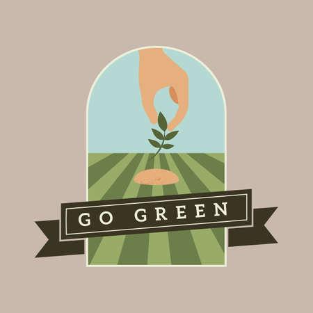 go green banner Stock Vector - 106674523
