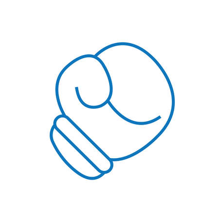 A boxing glove illustration. Ilustracja