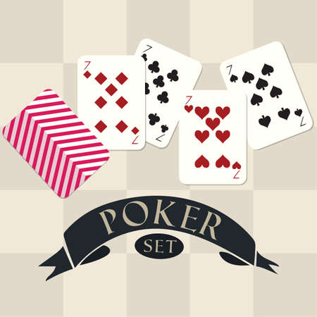 set of poker Stock fotó - 81470738